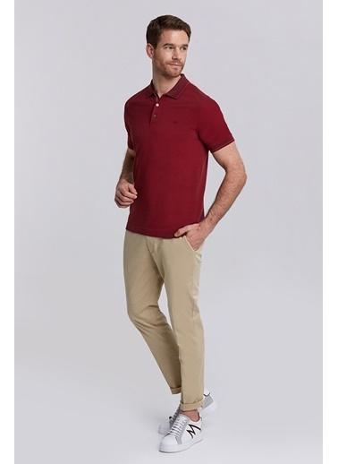 Hemington Bordo Basic Pike Pamuk Polo T-Shirt Bordo